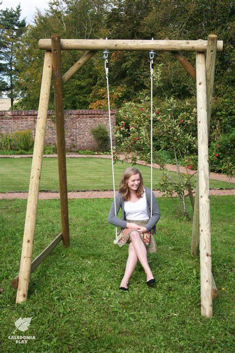 swing seat robust wooden swing frame for the garden swing seats can