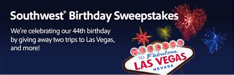 Southwest Airlines Las Vegas Giveaway - southwest airlines sweepstakes win a trip to vegas