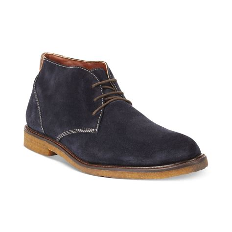johnston and murphy chukka boots johnston murphy copeland suede chukka boots in blue for