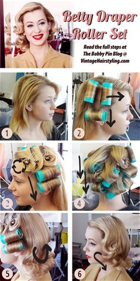 roll and set hairstyles betty draper vintage hairstyle directions you want to