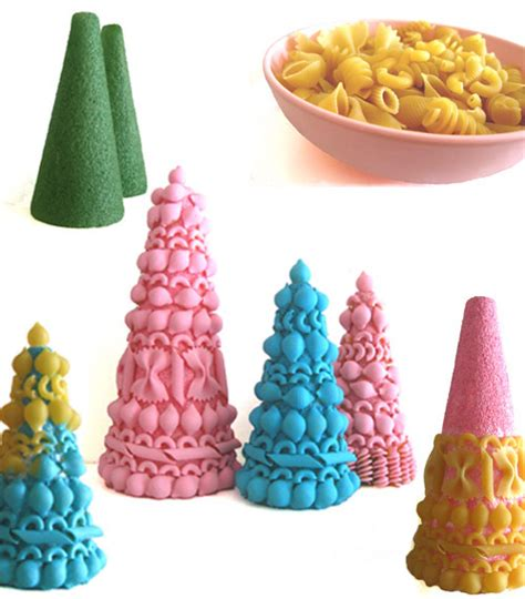 macaroni christmas tree 10 diy desktop tree topiaries with styrofoam