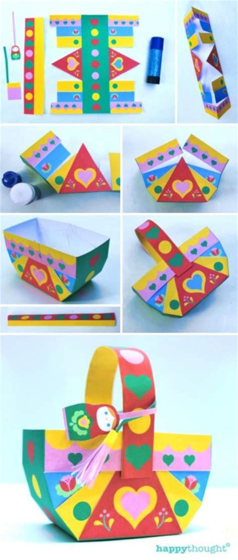 How To Make A Paper Basket - russian matryoshka doll papercraft easy diy decor