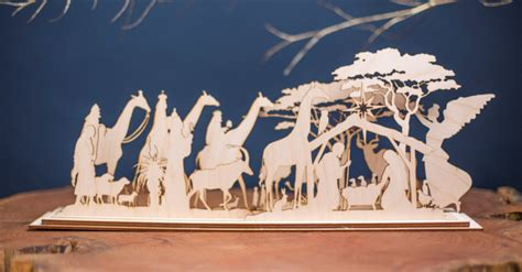 wooden nativity set christmas in africa elsje design