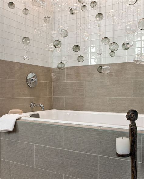 bathtub surround tile patterns glass bubbles pendant contemporary bathroom eric