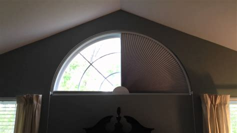 Fan Shades For Arched Windows Designs Movable Blind For Arch Shaped Window By Blind Builders Inc Feasterville Pa 19053