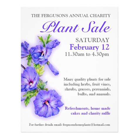 41 plant sale flyers plant sale flyer templates and