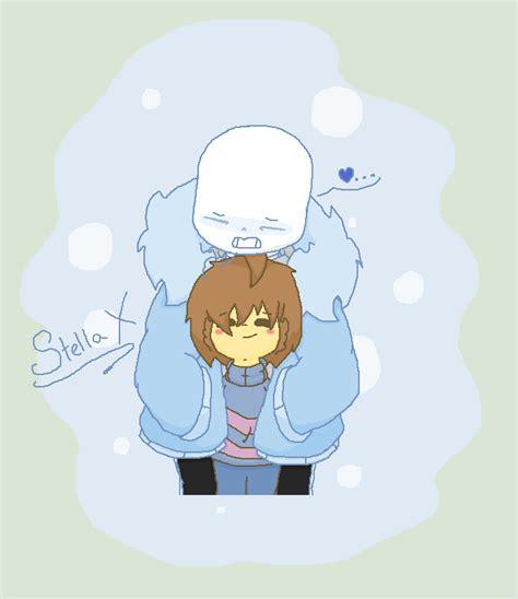 undertale frisk sans x sans x frisk undertale hoodie hug d by stella x on