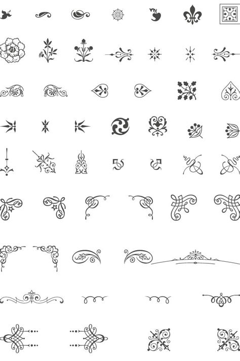tattoo font vector 302 best images about calligraphic design elements on