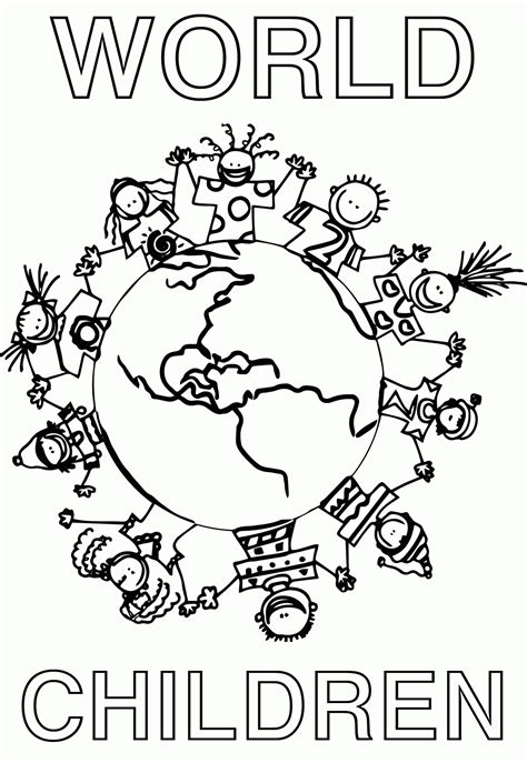 world coloring pages children of the world coloring page az coloring pages