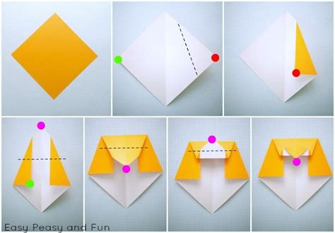 easy origami step by step comot