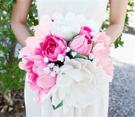 handmade crepe paper flower bouquet paper flower wedding