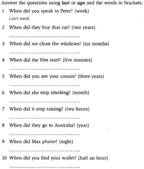 preguntas faciles con wh questions simple past negative and question form leccion 16b