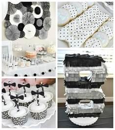 Black And White Themed Party Decorations - black amp white bow tie themed birthday party via kara s party ideas karaspartyideas com cake