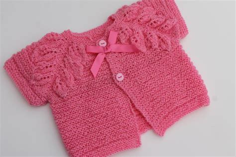 leaf pattern bolero 1000 images about baby girl cardigans knit on pinterest