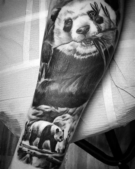 panda tattoo realistic 100 panda bear tattoo designs for men manly ink ideas