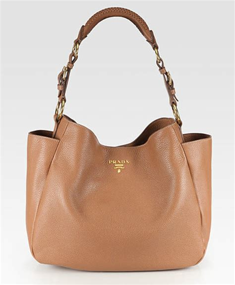 Prada Vitello Daino Mini Hobo Purse by Prada Vitello Daino Side Pocket Hobo