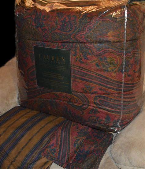 ralph lauren red comforter ralph lauren remington vintage red queen or king comforter