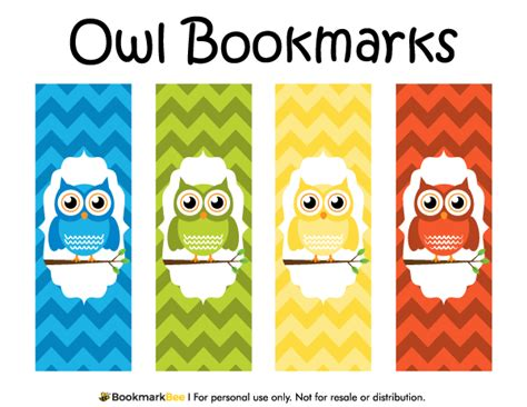 free printable bookmark generator free printable owl bookmarks download the pdf template at