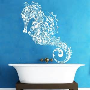 home decoration seahorse vinyl wall decal hippocampus fish wall sticker mural ocean sea underwater decole film poster