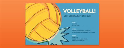 printable volleyball invitations invitations free ecards and party planning ideas from evite