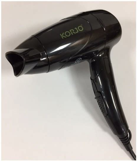 Hair Dryer Luggage korjo travel hair dryer dual voltage