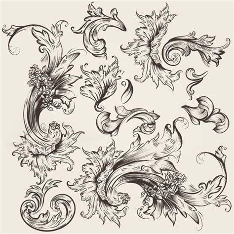 ornaments design vector swirls and floral swirls jpg quotes