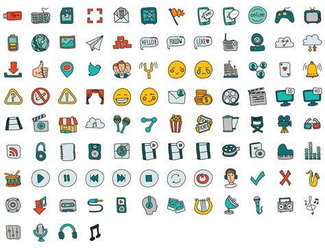free doodle icons doodle icon set icons