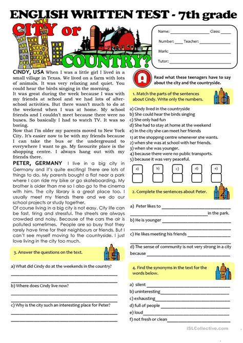 reading comprehension tests year 7 online printable reading comprehension year 7 kidz activities