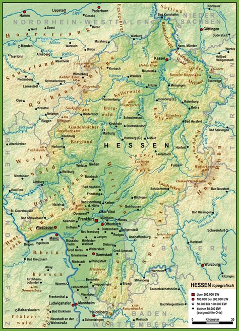 germany map detailed large detailed map of hesse