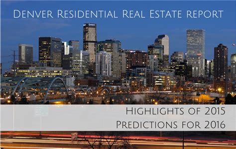 Real Property Records Denver Denver Residential Real Estate Annual Report The Denver 100