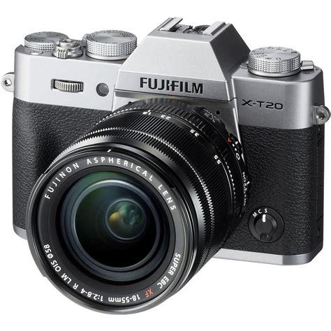 Fujifilm X T20 Mirrorless With 18 55mm Lens Black fujifilm x t20 mirrorless digital with 18 55mm lens silver uu cad 1 445 50 picclick ca
