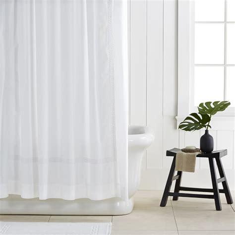 greek drapery greek key shower curtain williams sonoma