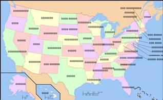 P State Pennsylvania Map Usa