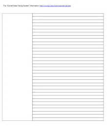 Cornell Notes Template Doc by Cornell Notes Template Word Beepmunk
