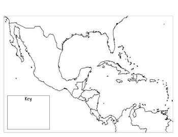 blank map central america caribbean islands blank map of central america and the caribbean my