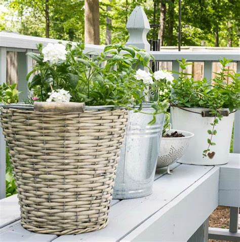 Diy Container Herb Garden Ideas Container Herb Garden Ideas