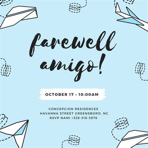 farewell card template customize 3 999 farewell invitation templates
