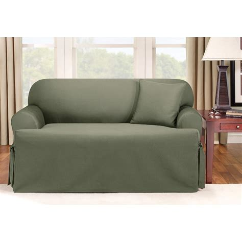 sure fit loveseat slipcovers sure fit 174 logan t cushion sofa slipcover 292833