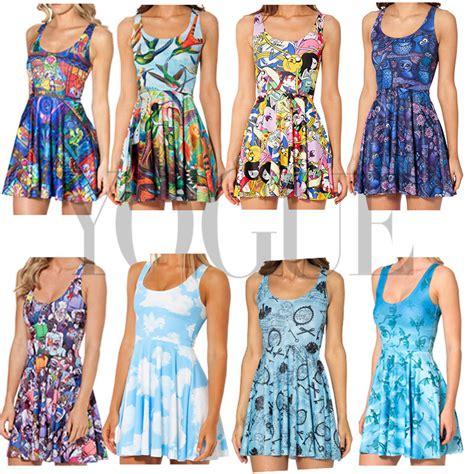 Mini Dress Disnie 2015 3d graphic disney s summer sleeveless skater floral tank mini dress