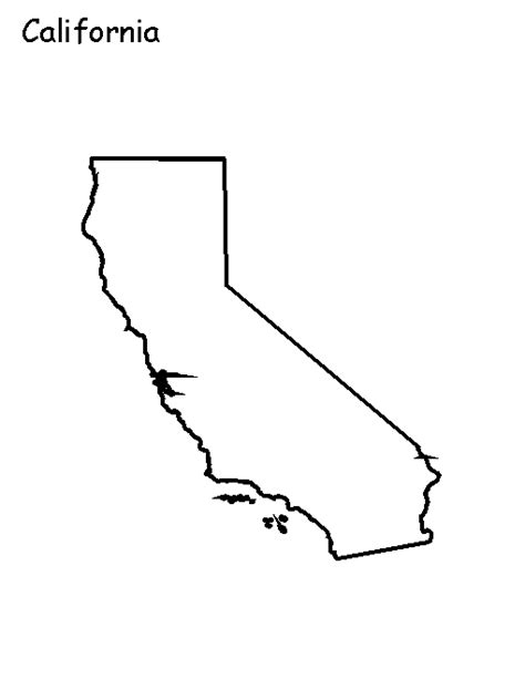 Outline Of California Image by State Outline Maps