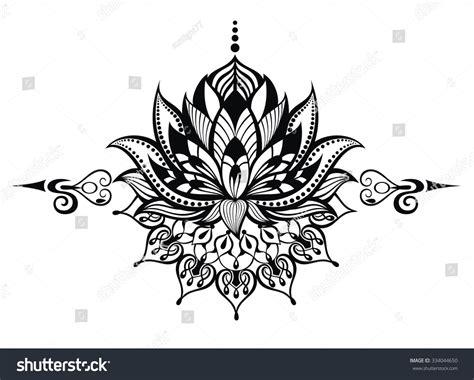 lotus tattoo vector lotus flowertattoo stock vector 334044650 shutterstock