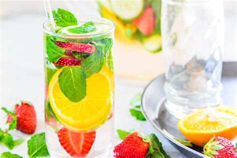 printable detox water recipes strawberry cucumber detox water recipe to make at home