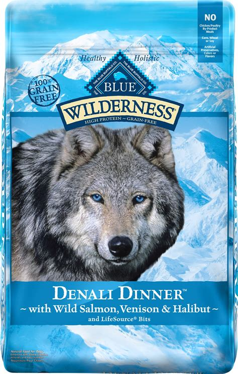 blue buffalo wilderness puppy blue buffalo wilderness denali dinner with salmon venison halibut grain free