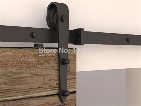 Closet Door Slider Hardware 195cm Steel Black Rustic Sliding Barn Wood Door Closet Door Hardware Sliding Barn Door Track In