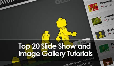 tutorial wordpress gallery slideshow top 20 jquery slideshow and image gallery tutorials