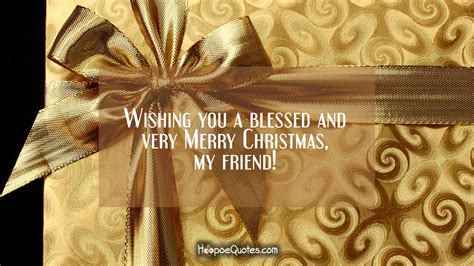 wishing   blessed   merry christmas  friend hoopoequotes