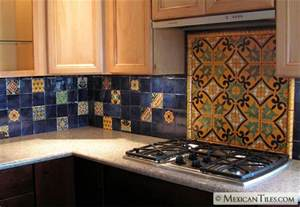 Mexican Tile Kitchen Backsplash Mexicantiles Kitchen Backsplash With Decorative Mural Using Angeles Talavera Mexican Tile