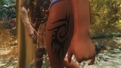 body tattoo mod skyrim cbbe body tattoo at skyrim nexus mods and community