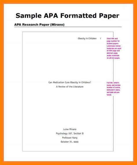 outline format apa style gse bookbinder co intended for apa