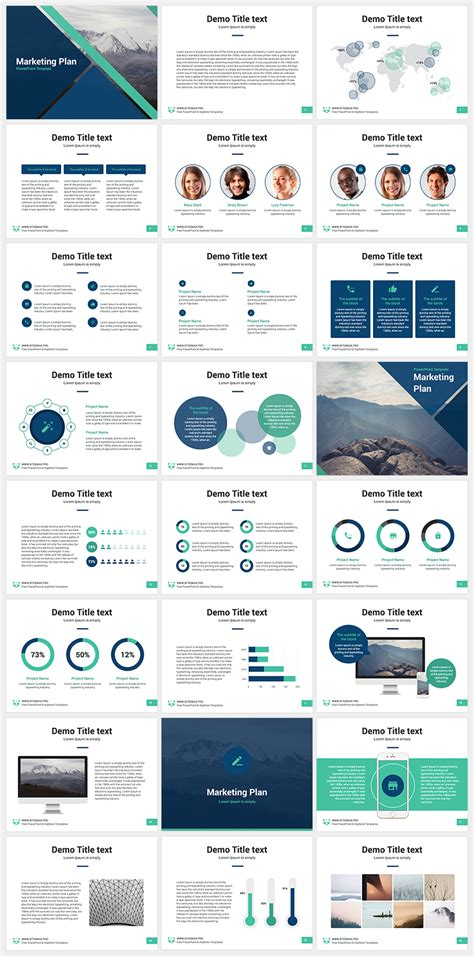 The Best 8 Free Powerpoint Templates Hipsthetic Marketing Plan Powerpoint Template